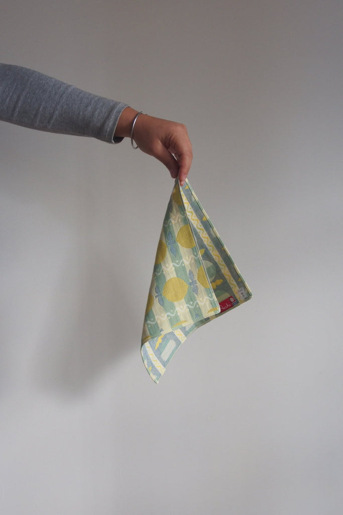 Pocchi Imabari face towel - Lemonade - Kura Studio