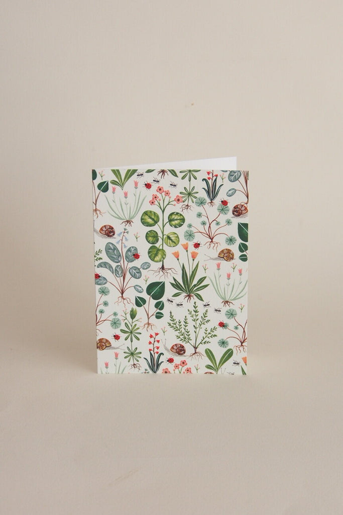 Flora Waycott Card - Green Botanical - Kura Studio