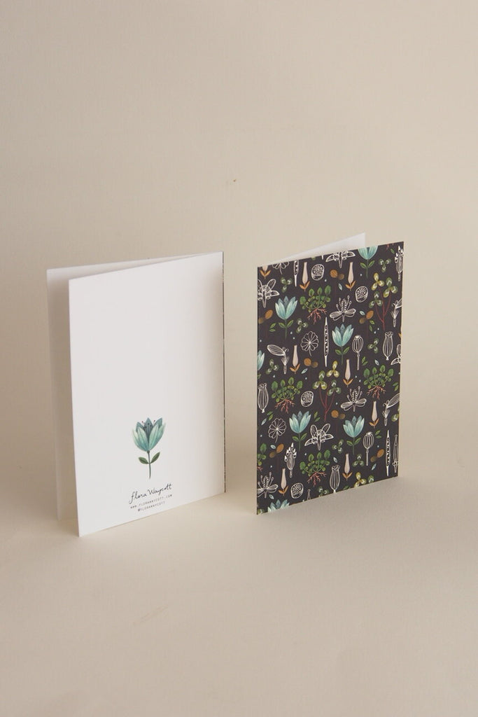 Flora Waycott Card - Dark Botanical - Kura Studio
