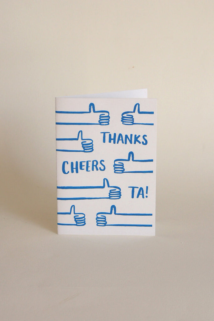 Neighbourhood Press Greeting Card - Thanks Cheers Ta! - Kura Studio