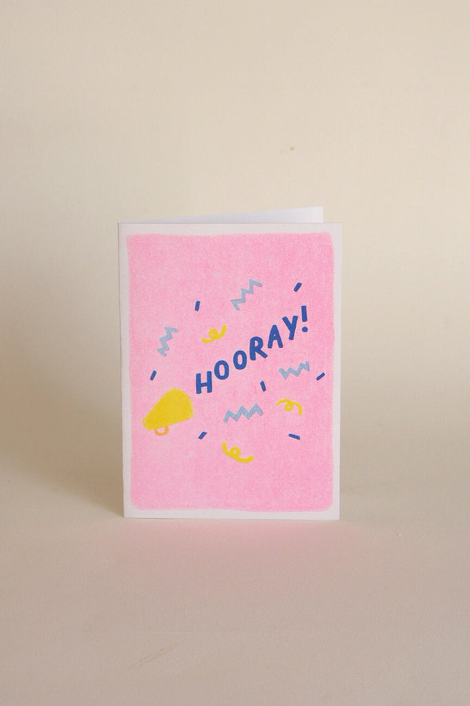 Neighbourhood Press Greeting Card - Hooray! - Kura Studio