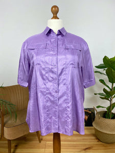 UK24 Purple blouse 80's