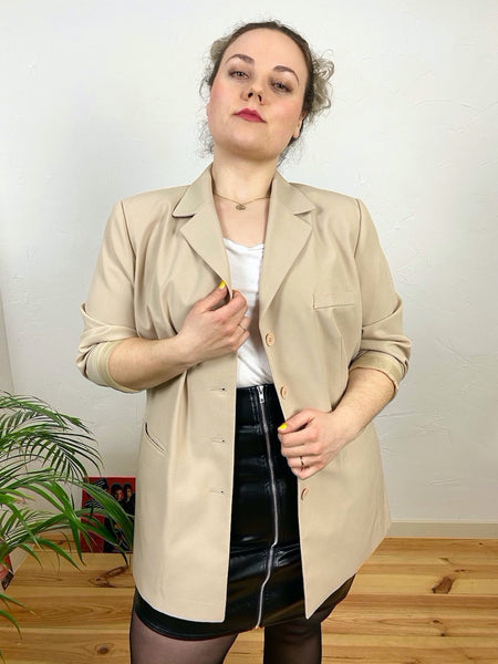 UK18 Cream blazer 80's