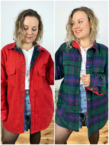 UK22 Reversible heavy flannel jacket