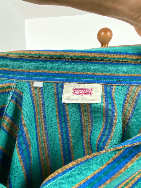 EU54 Gestreifte Bluse - Made in Italy