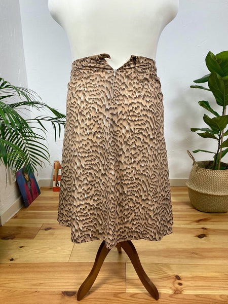 UK18/20 Animal print skirt 90's