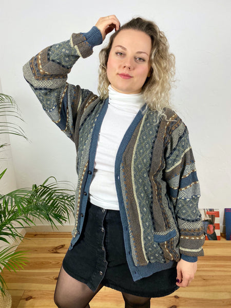 UK16/18 Coogi style cardigan - Made in Canada