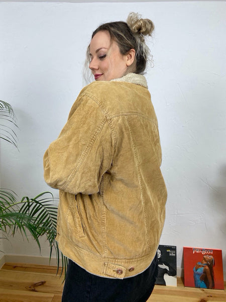 "EU44/46 Cordjacke mit Sherpa ""Route 66 Original Clothing"""