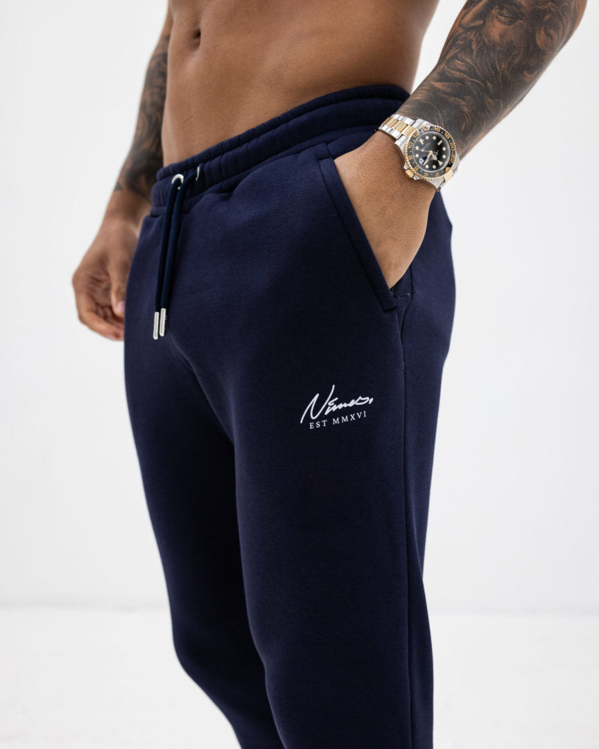 Essential Slim Fit Joggers - Navy
