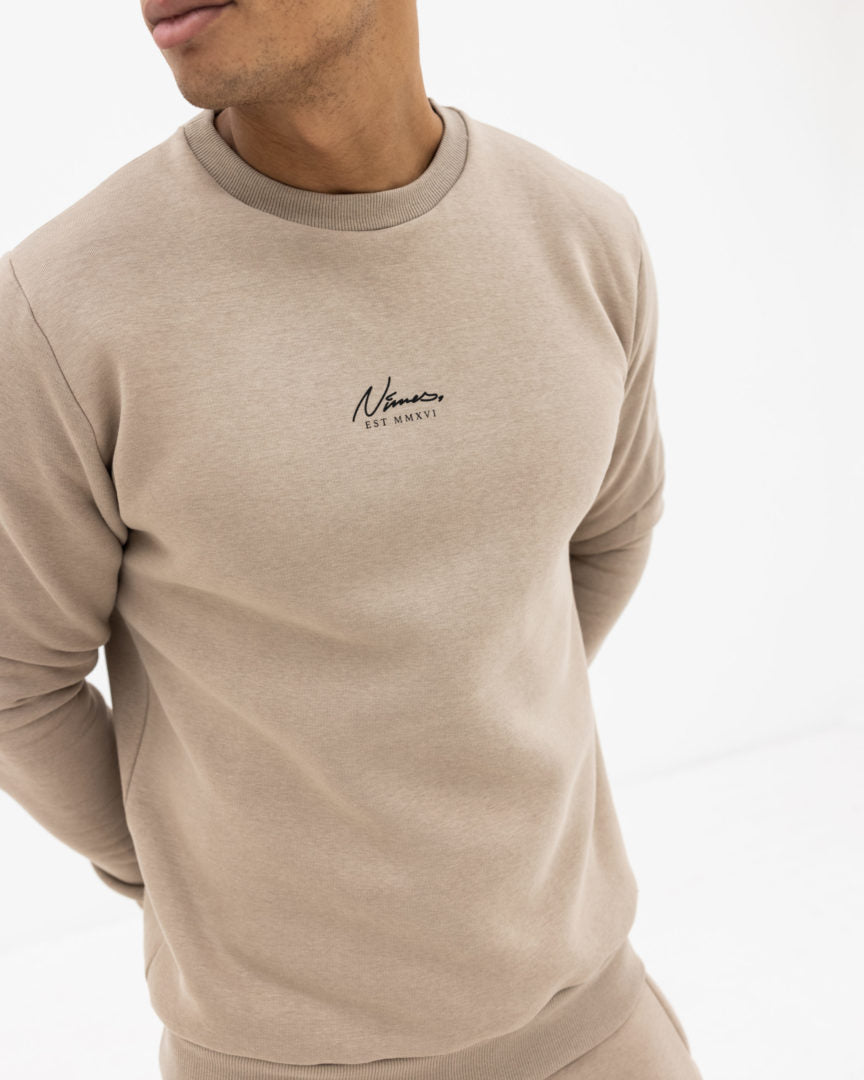 Essential Crew Sweat - Stone