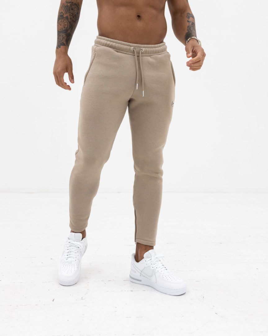 Essential Slim Fit Joggers - Stone