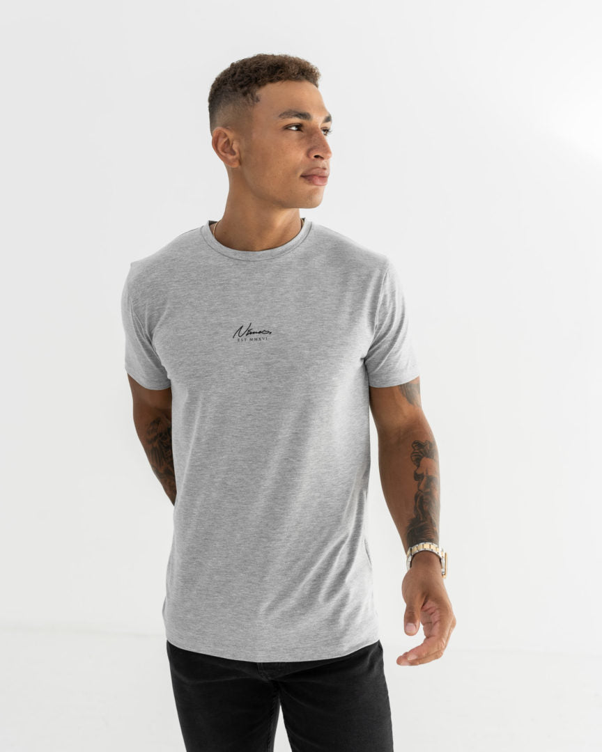 Essential Slim Fit T-Shirt - Grey Marl
