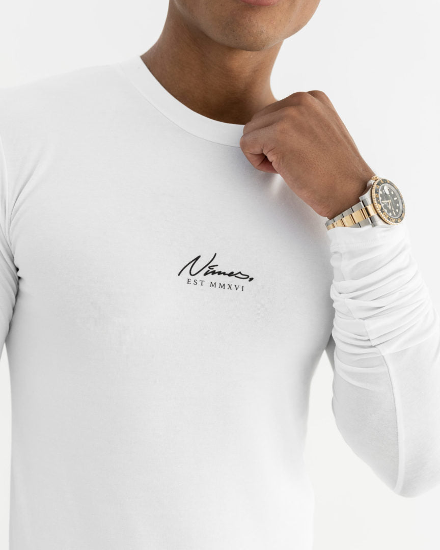 Essential Long Sleeve T-Shirt - White