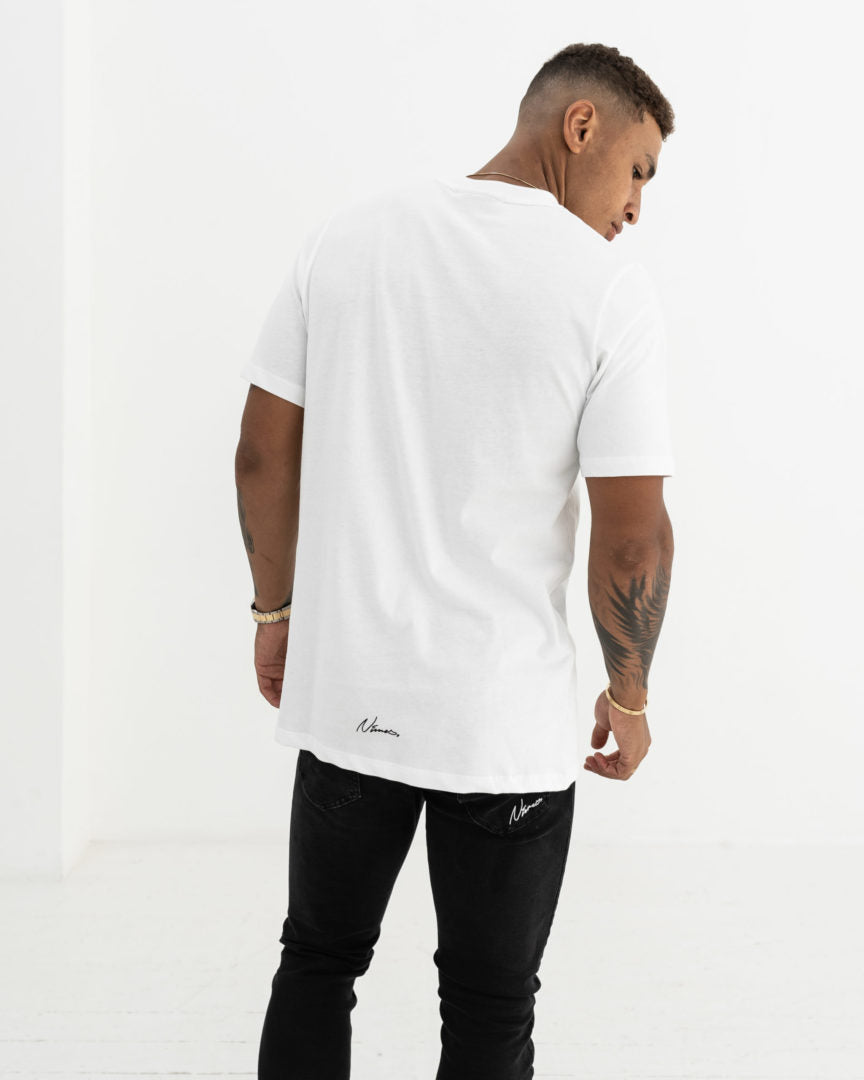 3D Graphic T-Shirt - White
