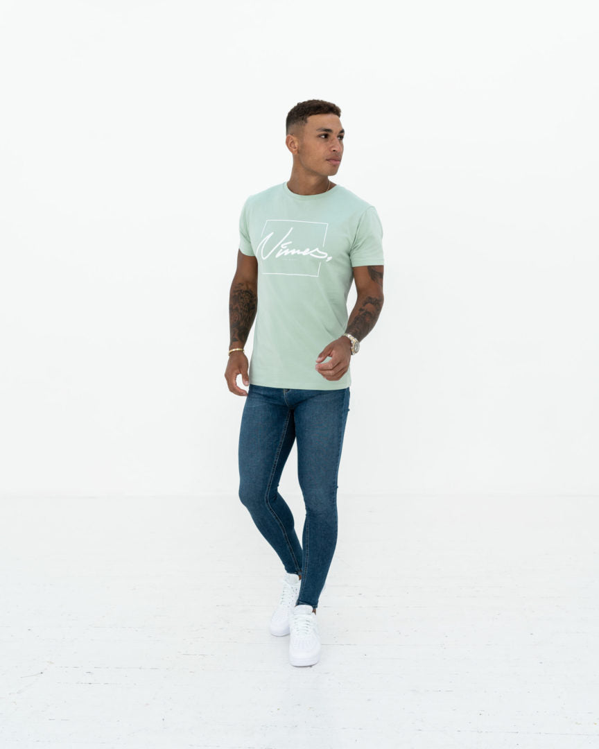 Super Skinny Spray on Jeans - Dark Blue Non-Ripped