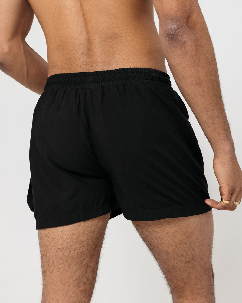 Cargo Swim Shorts - Black