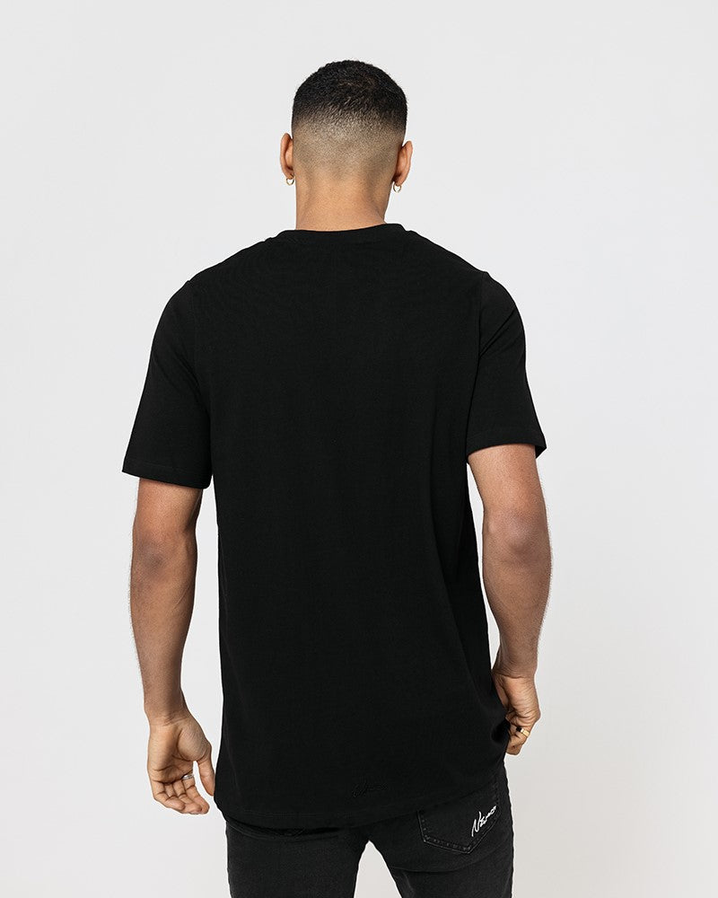 College Print T-Shirt - Black
