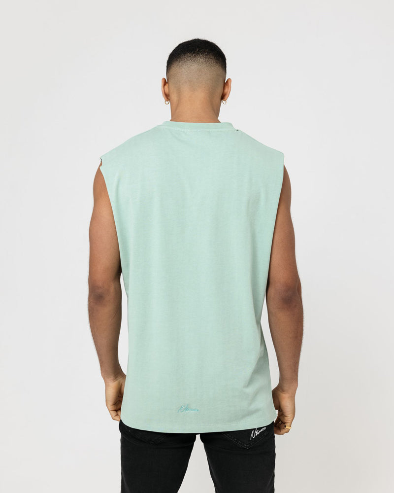 Essential Cut Off T-Shirt - Ash Mint