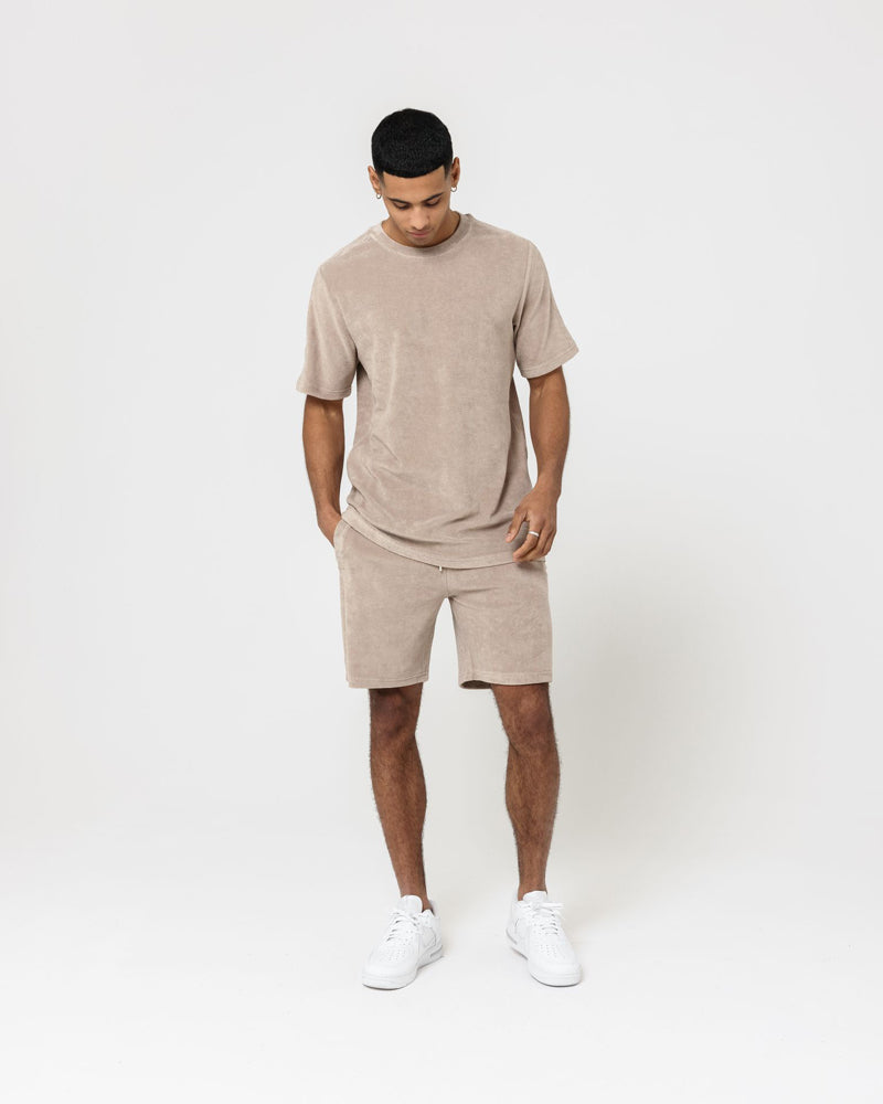 Towelling T-Shirt - Stone