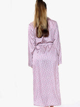 Load image into Gallery viewer, Deeor Print Satin Robe Pink