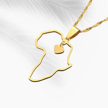 Load image into Gallery viewer, Africa Heart Outline Necklace