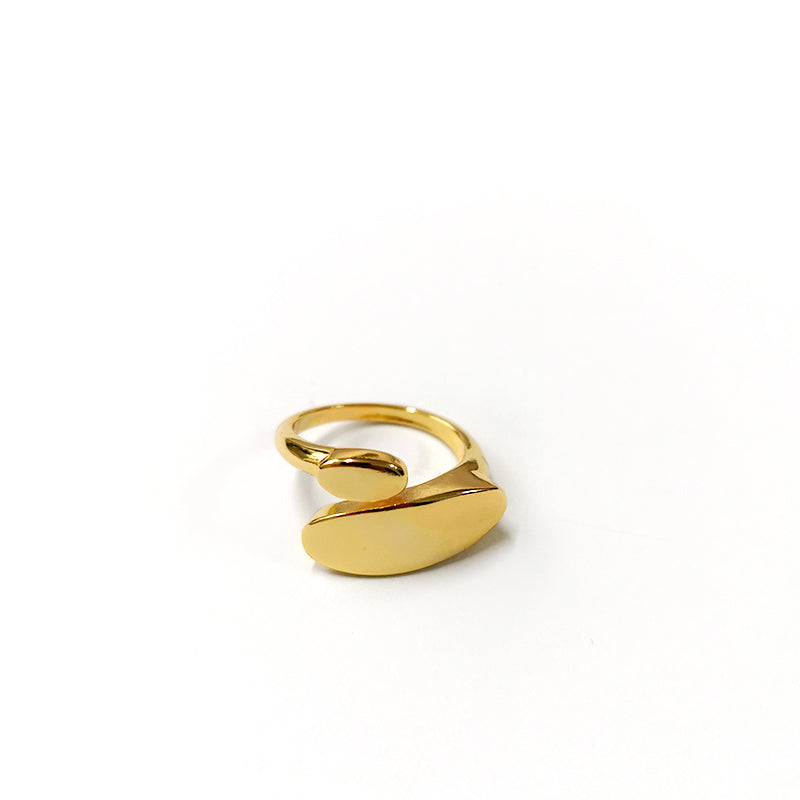 CELIA Irregular Circle Gold Ring