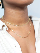 Load image into Gallery viewer, LIZZIE Chain Link Minimalist Choker necklace