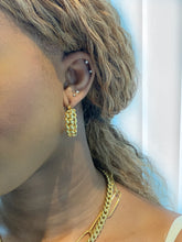 Load image into Gallery viewer, Coco Chain Hoop Earrings