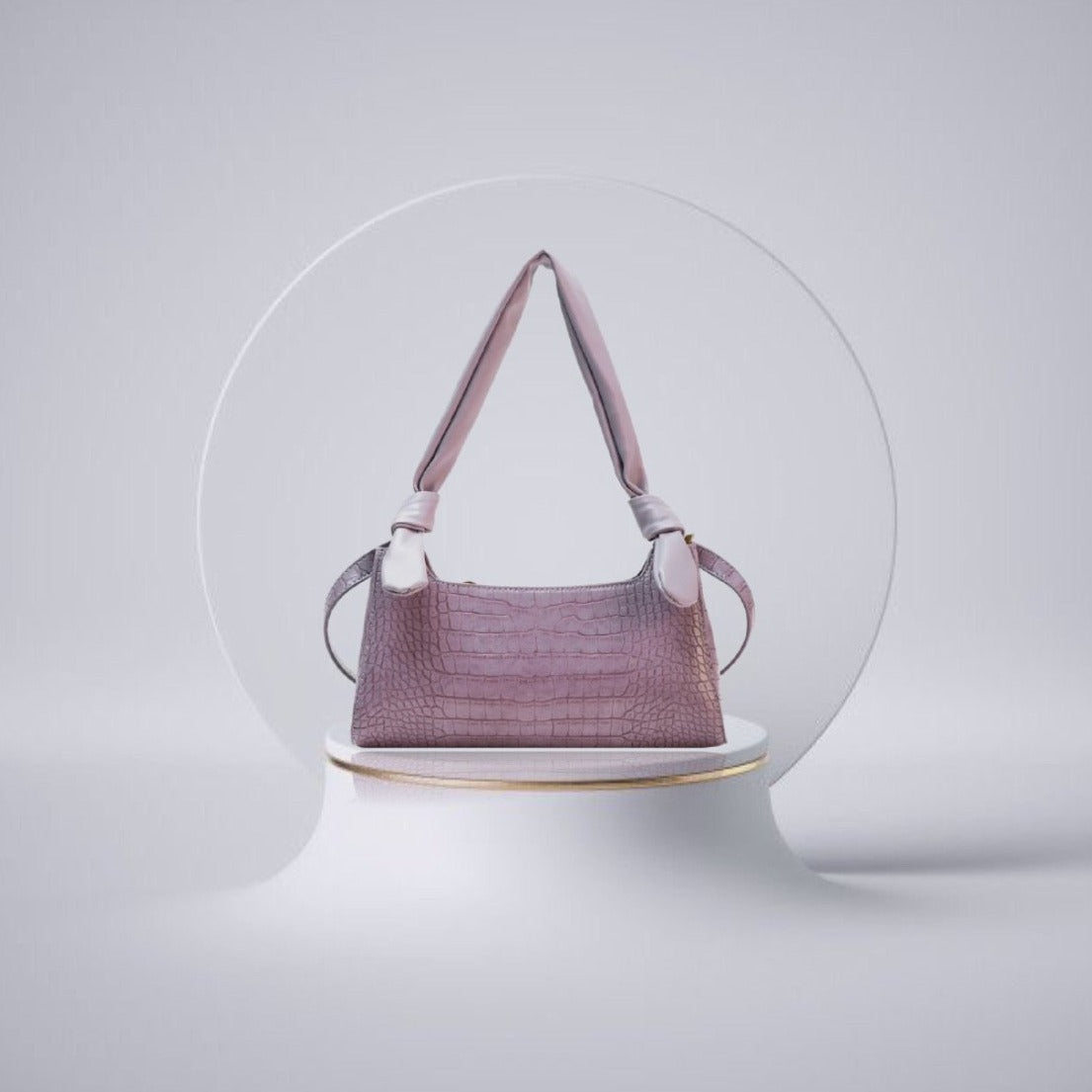 LILLIE Croc Pattern PU Leather Bag