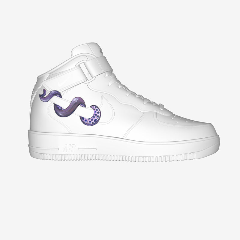 Nike Air Force 1 Mid White By Andrea Bernardoni