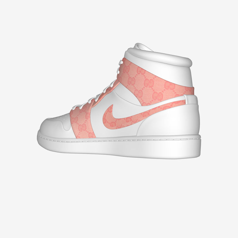 Nike Air Jordan 1 Mid White By Ilaria Giorgio