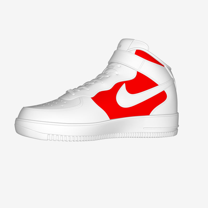 Nike Air Force 1 Mid White By Mattia Colasanto