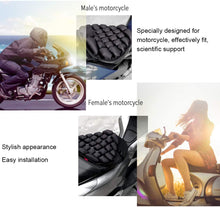 Load image into Gallery viewer, 3D Hand-press Air Breathable Seat Cushion for motorcycle, Black - E-Geek