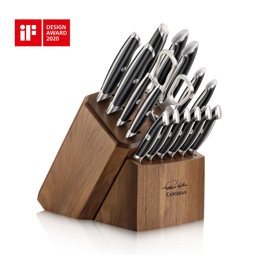 Load image into Gallery viewer, Cangshan 1024715 Thomas Keller Signature Collection 17-Piece Knife Block Set