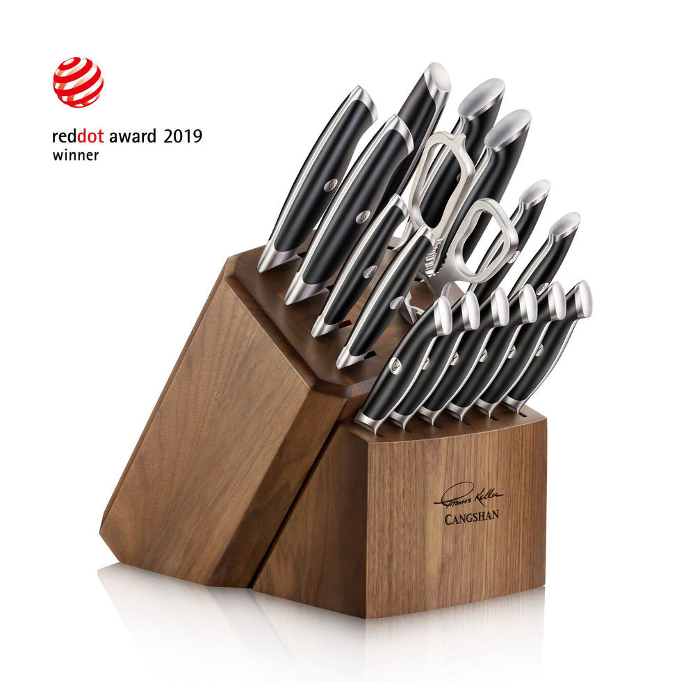Cangshan 1024715 Thomas Keller Signature Collection 17-Piece Knife Block Set