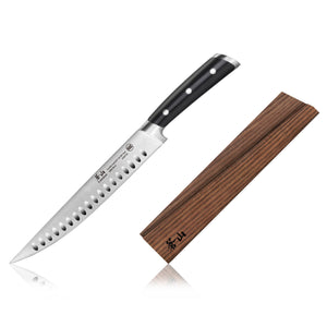 Load image into Gallery viewer, Cangshan TS Series 1020762 Swedish Sandvik 14C28N Steel Forged 9-Inch Carving Knife and Wood Sheath Set