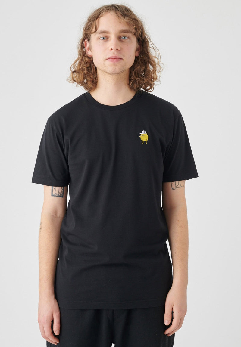CLEPTOMANICX-Embroidery Zitrone T-Shirt - BACKYARD