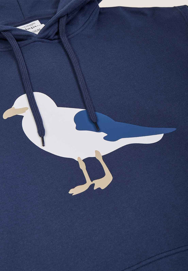 CLEPTOMANICX-Gull Hooded Sweatshirt - BACKYARD