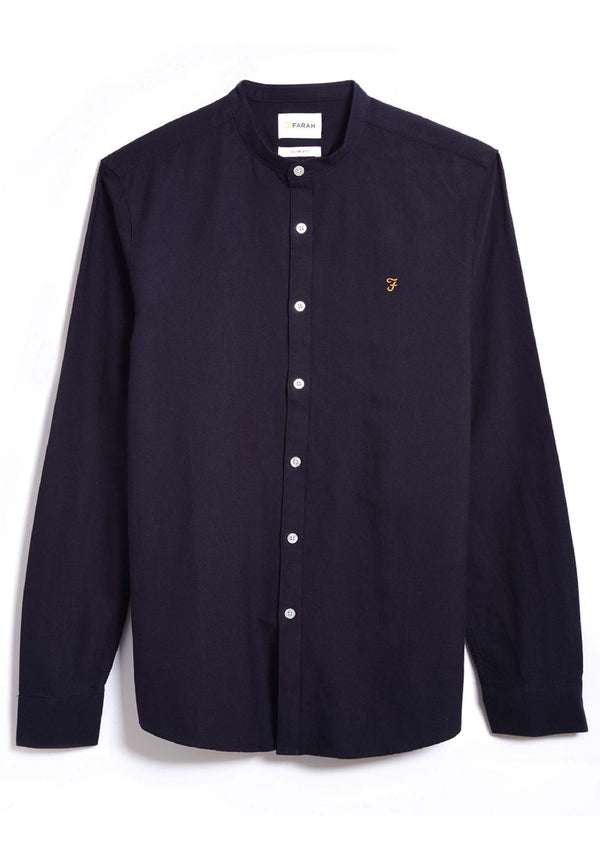 FARAH-Brewer Slim Gdad Shirt LS - BACKYARD
