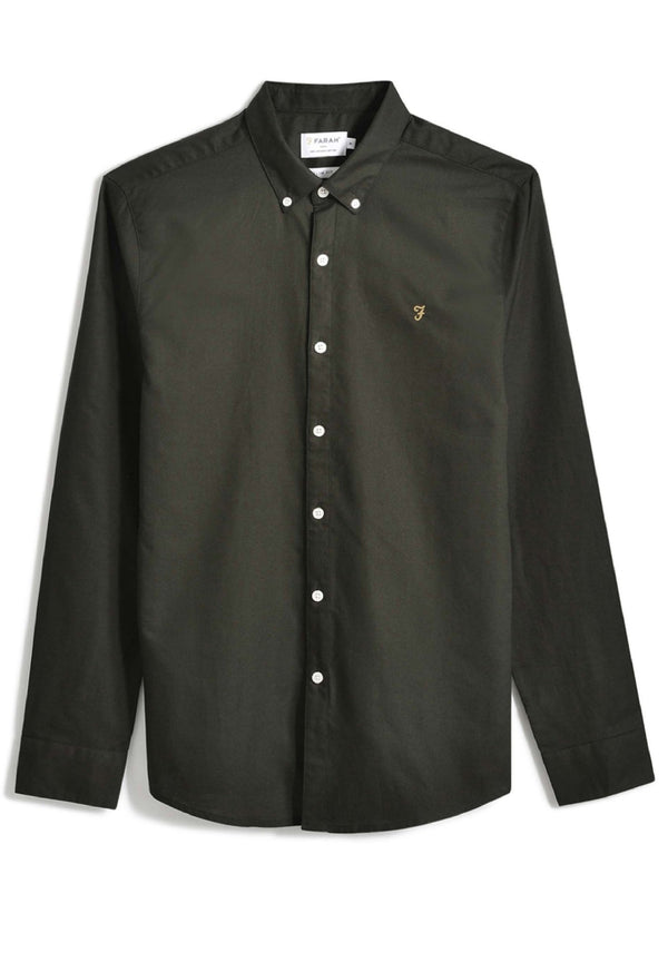 FARAH-Brewer Slim Shirt LS - BACKYARD
