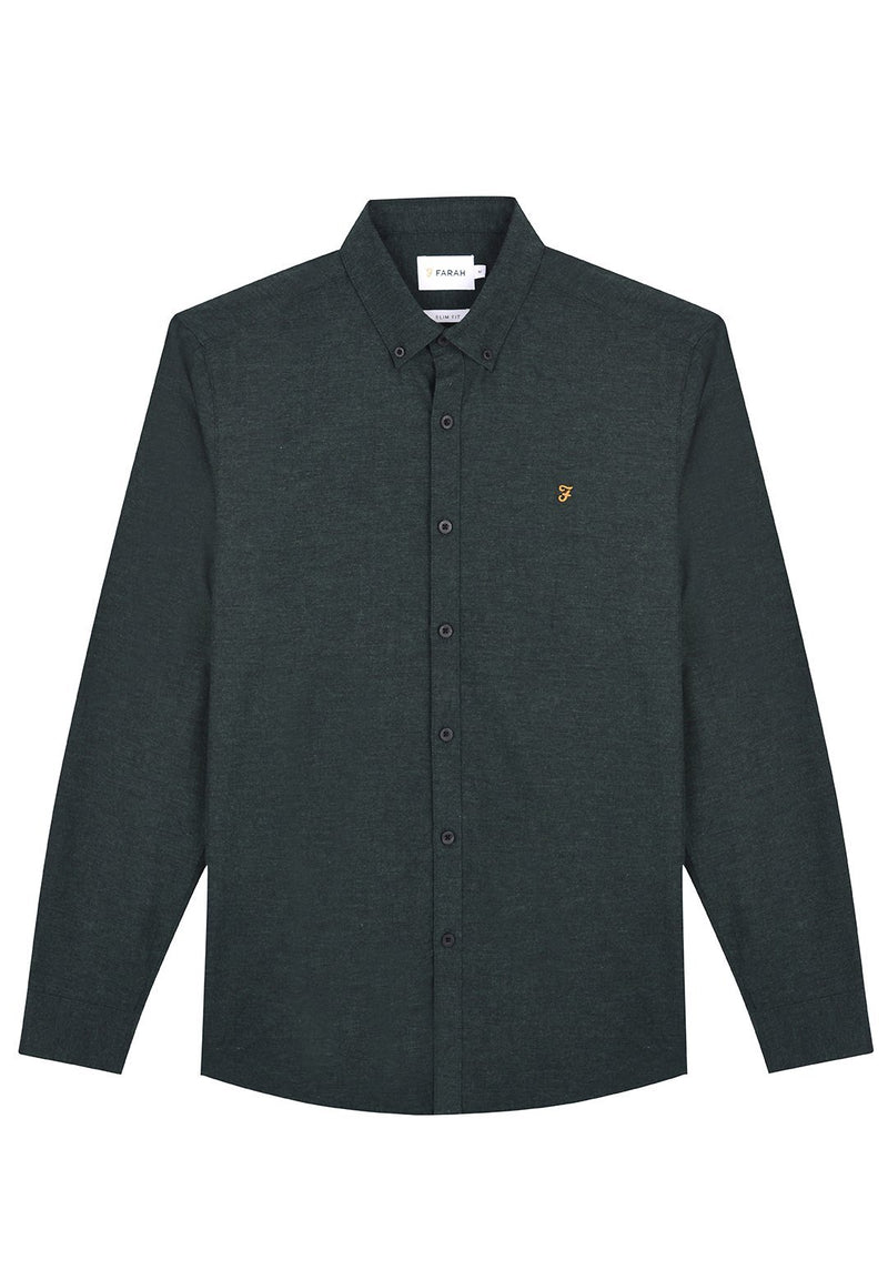 FARAH-Steen Slim Shirt LS - BACKYARD