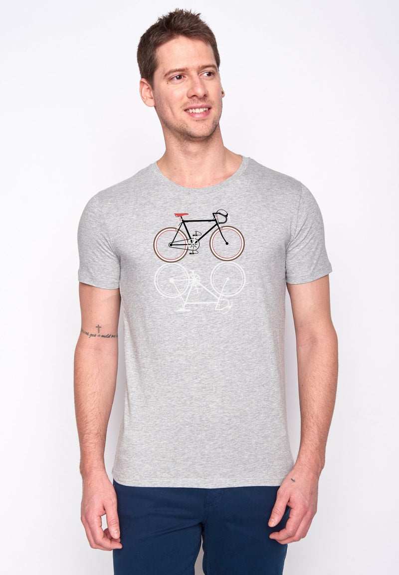 GREENBOMB-Bike Shape T-Shirt - BACKYARD