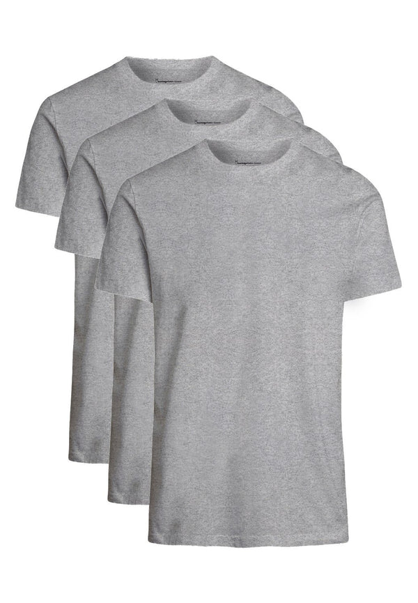 KNOWLEDGE COTTON-Alder 3-Pack T-Shirts - BACKYARD