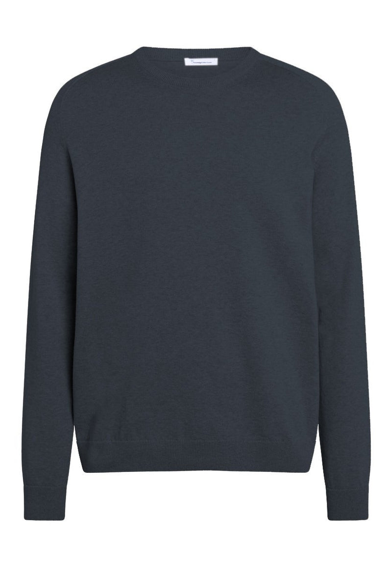 KNOWLEDGE COTTON-Field O-Neck Pullover - BACKYARD