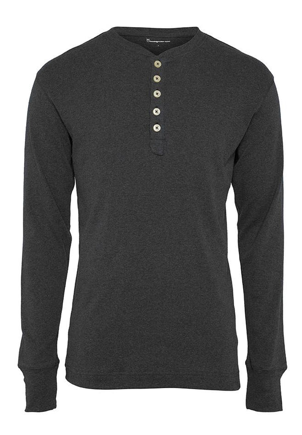 KNOWLEDGE COTTON-Henley 81003 - BACKYARD