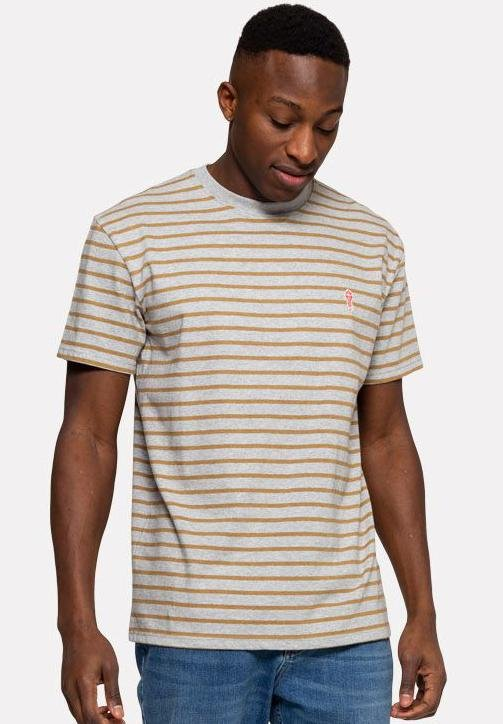 REVOLUTION-1056 Striped T-Shirt - BACKYARD