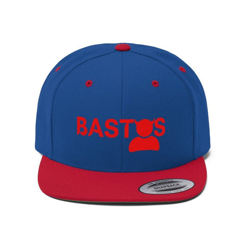"""Bastos"" - Embroidered Flat Bill Hat - Snapback Hats"