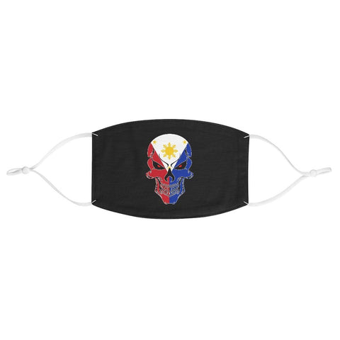 Filipino Flag & Skull Face Mask Accessories One size