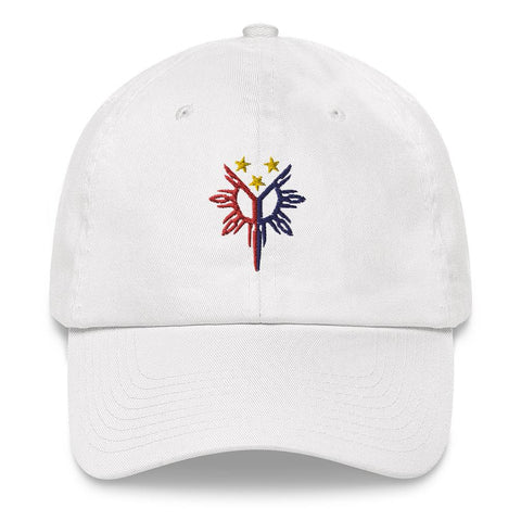 Filipino Heritage, Tribal Sun - Embroidered Dad Hat White
