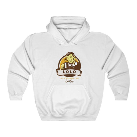 """Lolo... Like A Grandpa, But Cooler"" - Funny Filipino Hoodie - Unisex Heavy Blend Hooded Sweatshirt Hoodie White L"
